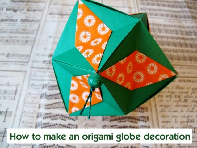 Origami globe