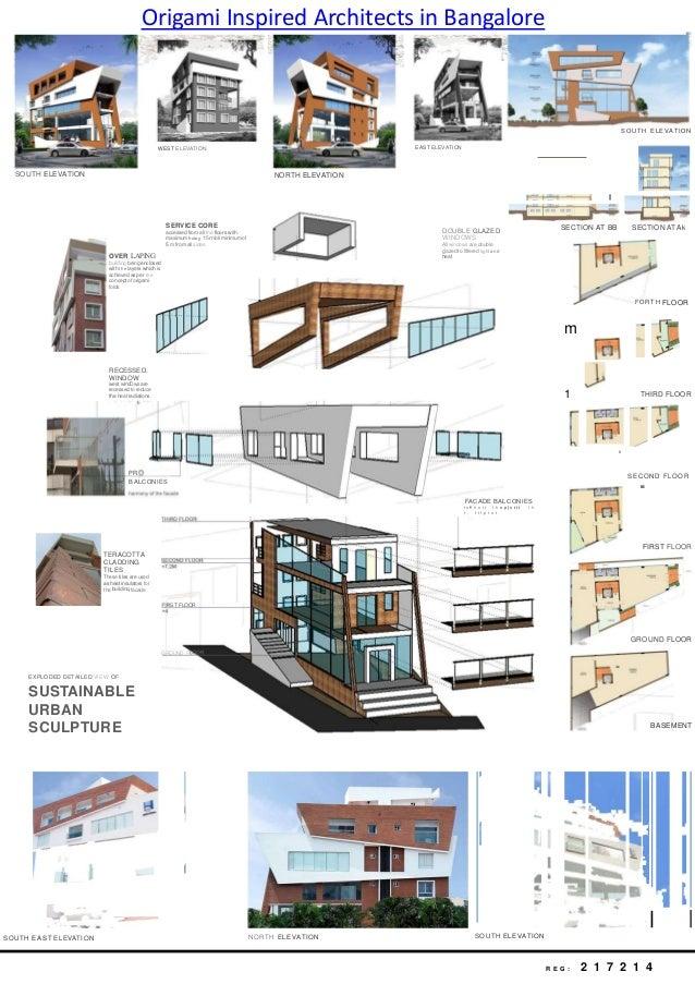 Origami inspired architects in bangalore for Education design architects bangalore