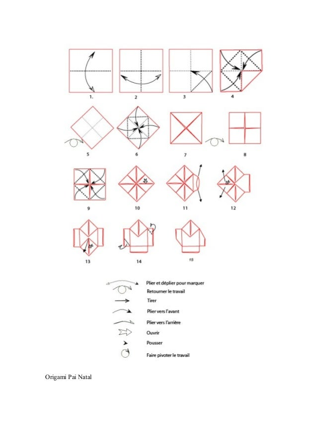 Origami Pai Natal
