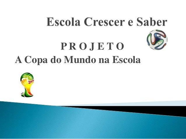 Projeto: A copa do mundo na escola