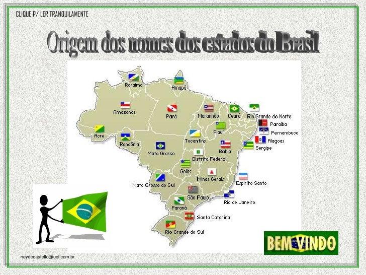 Origem do nome dos estados do Brasil