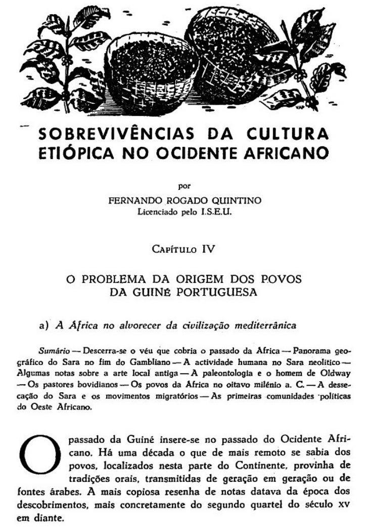 Origem dos povos da Guiné