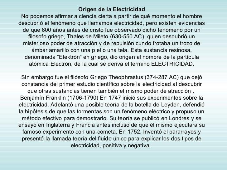Origen De La Electricidad 2