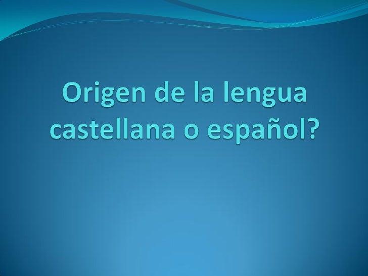 El idioma español o castellano es   una lengua romance del grupo ibérico. Es uno de los seis idiomas oficiales de la ONU y...
