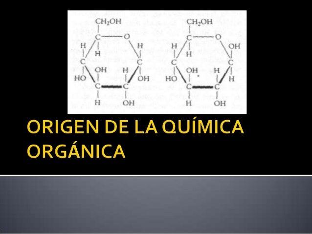Origen de la quìmica organica