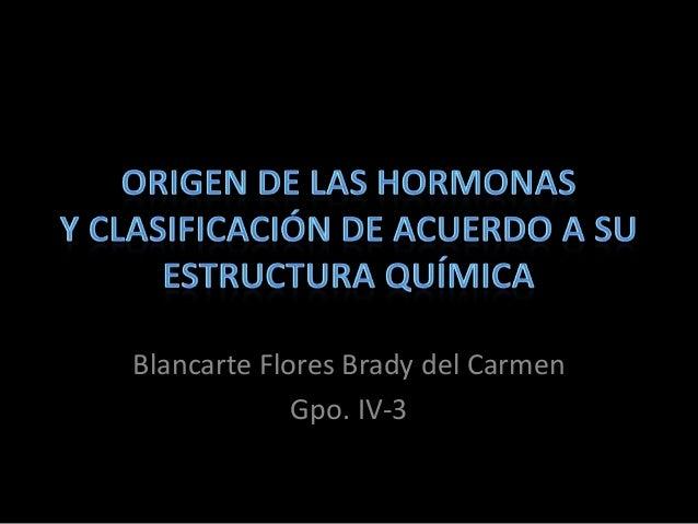 Blancarte Flores Brady del Carmen             Gpo. IV-3