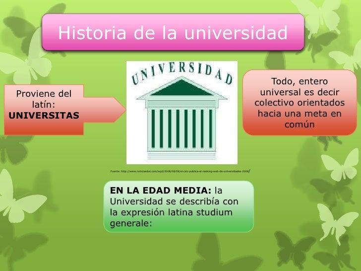Historia de la universidad                                                                                                ...