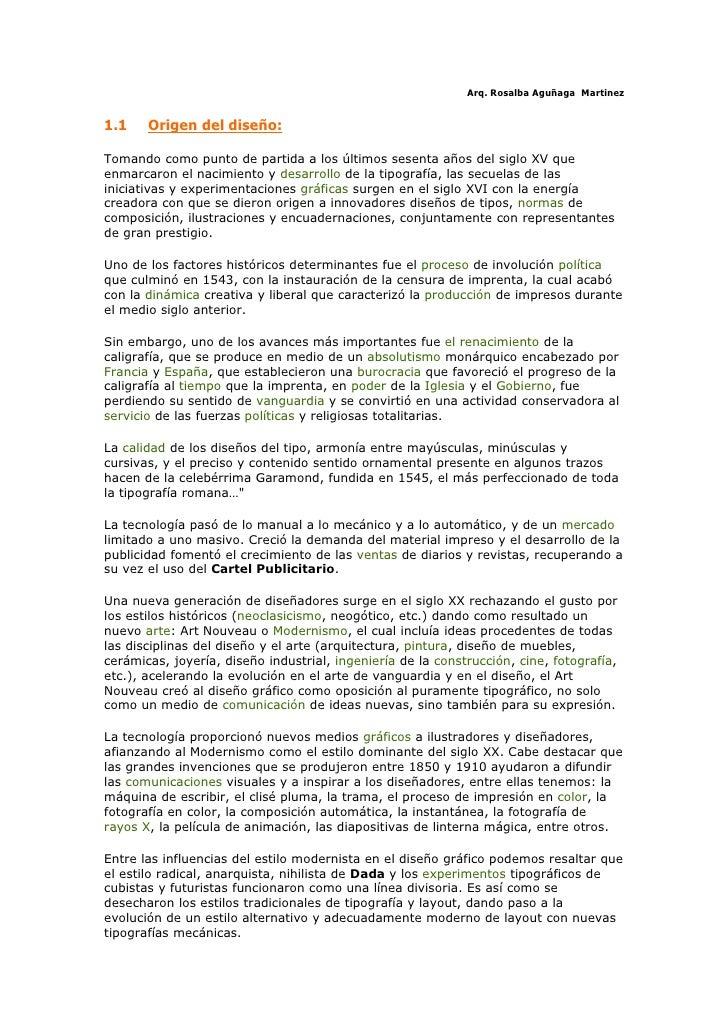 Arq. Rosalba Aguñaga Martinez   1.1    Origen del diseño:  Tomando como punto de partida a los últimos sesenta años del si...