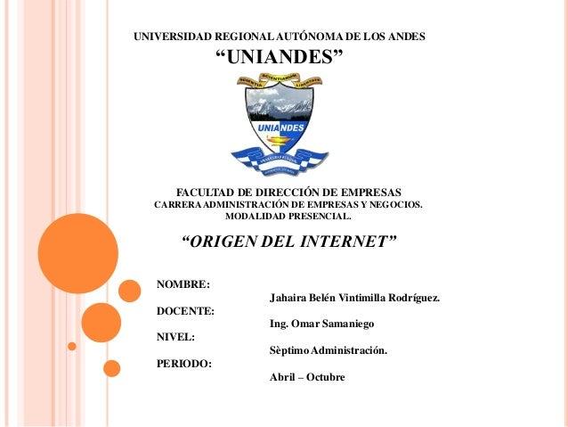 """UNIVERSIDAD REGIONALAUTÓNOMA DE LOS ANDES """"UNIANDES"""" FACULTAD DE DIRECCIÓN DE EMPRESAS CARRERAADMINISTRACIÓN DE EMPRESAS Y..."""
