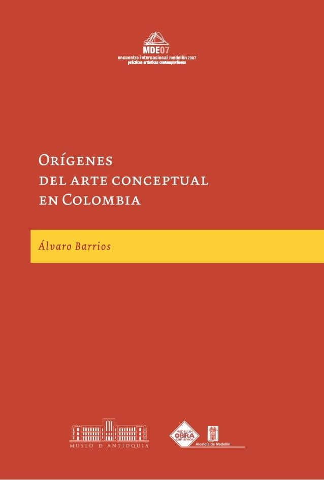 Orígenes del arte conceptual en Colombia