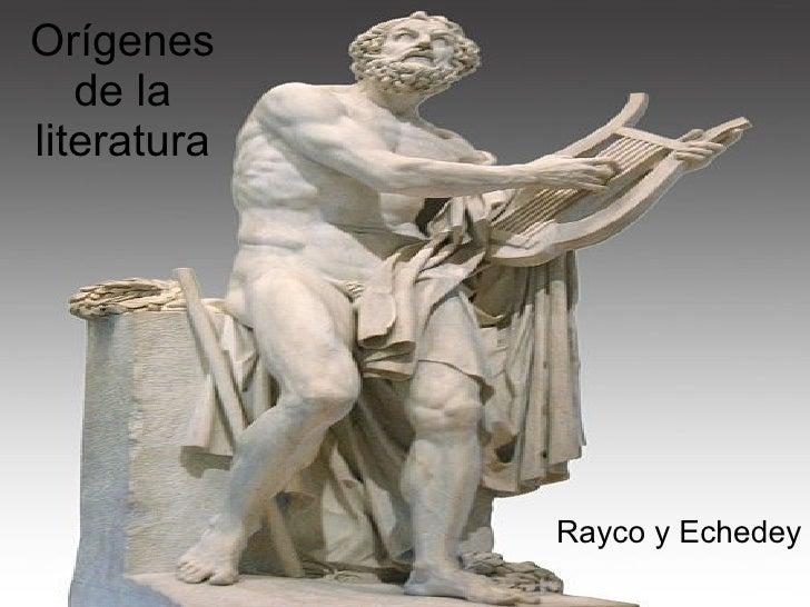 Origenes De La Literatura