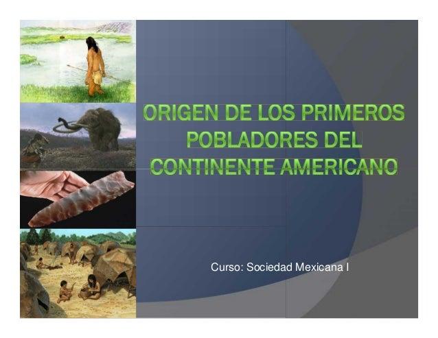 Curso: Sociedad Mexicana I