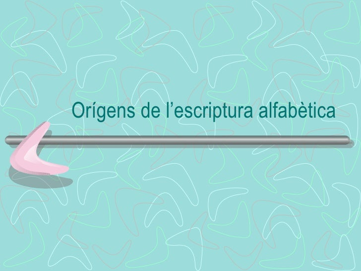 Orígens de l'escriptura alfabètica