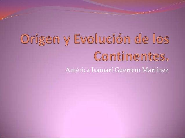América Isamarí Guerrero Martínez
