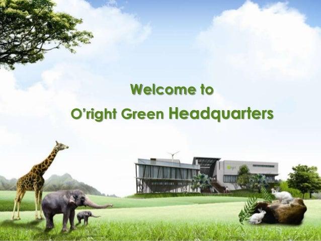 Professional Organic Salon Products - O'right Green Headquarters