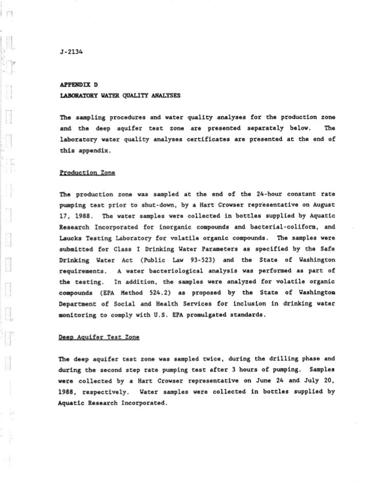 Original bell hill well 1 test, toxicology report, 1988