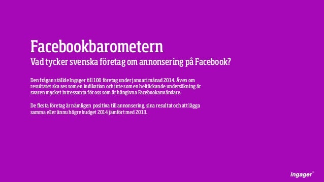 Facebookbarometern 2014