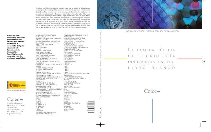 Este libro de Cotec tiene como objetivo contribuir a facilitar la utilización de                                 las compr...