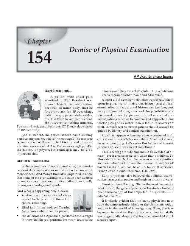 Original pdf article   demise of physical examination   jitendra ingole and ap jain medicine update 2007