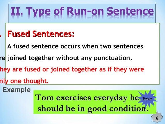 run on sentences examples pdf