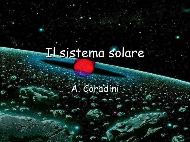 Stage astrofisica 2010- 7. Il Sistema Solare - G.Magni