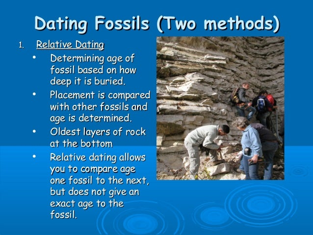 Dating methods for fossils