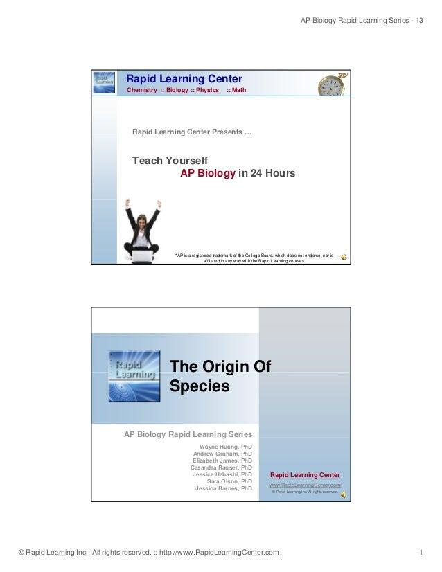 Origin ofspecies
