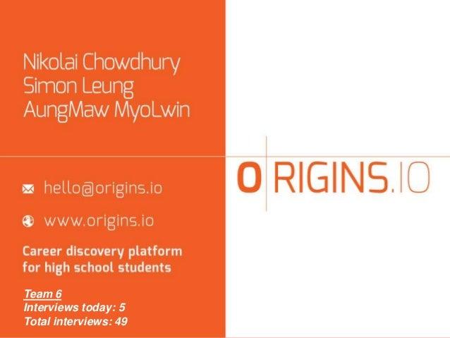 Origins io columbia univ jan 2014