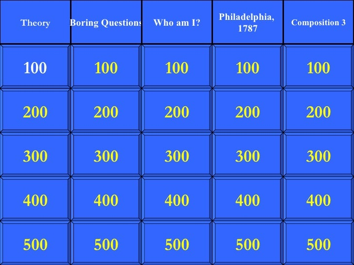 Origins Jeopardy 2