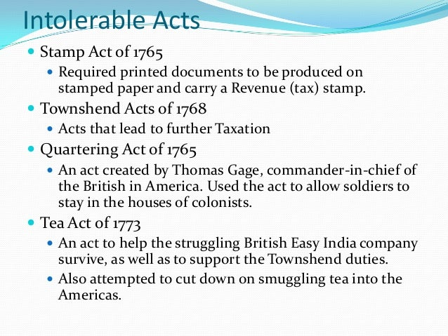 essay on tea act