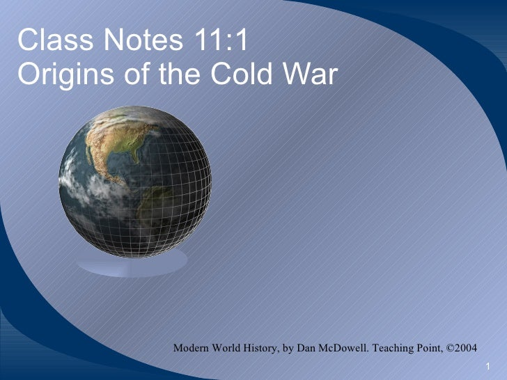 Origins of The Cold War