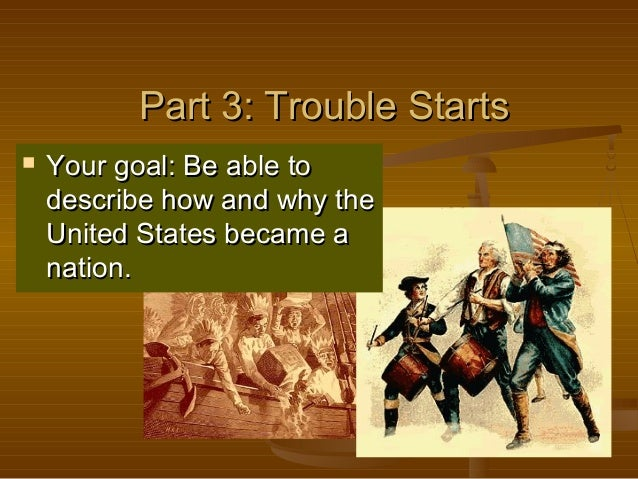 Part 3: Trouble StartsPart 3: Trouble Starts  Your goal: Be able toYour goal: Be able to describe how and why thedescribe...