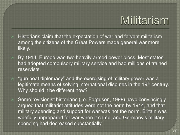 was german militarism and diplomacy responsible for world war one