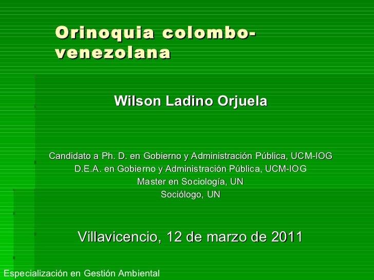 <ul><li>Wilson Ladino Orjuela </li></ul><ul><li>Candidato a Ph. D. en Gobierno y Administración Pública, UCM-IOG </li></ul...