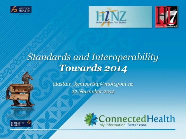 Standards and Interoperability      Towards 2014     alastair_kenworthy@moh.govt.nz             27 November 2012