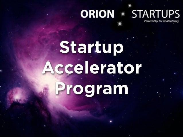 Startup Accelerator Program