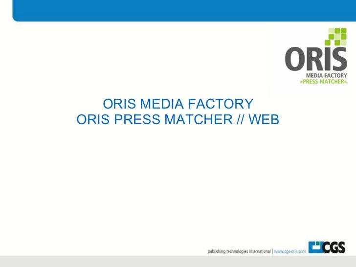 ORIS PressMatcher//web