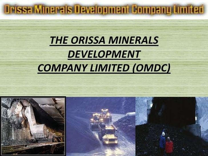 Orissa mineral Development ltd