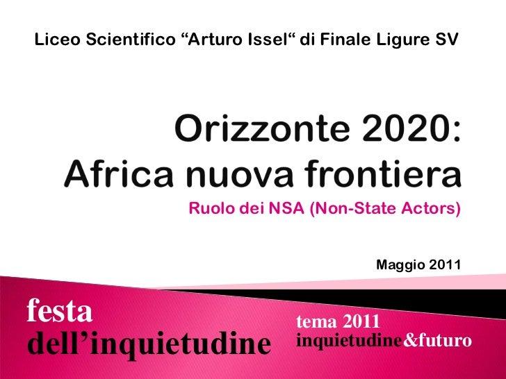 Orizzonte 2020: Africa nuova frontiera