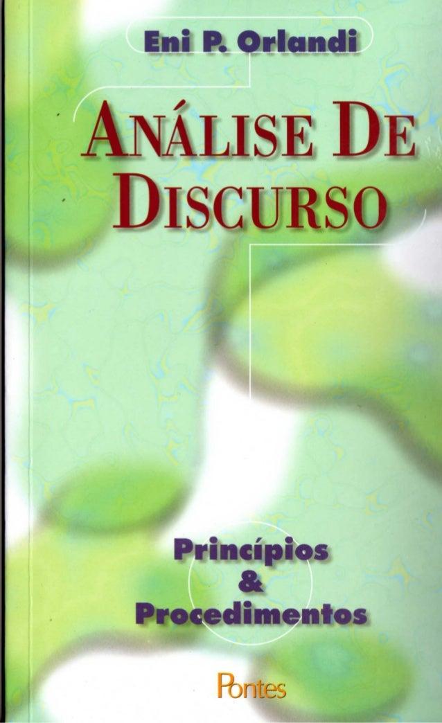 análise do discurso - princípios & procedimentos