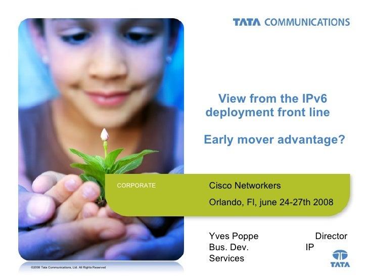 IPv6: Early Mover Advantage?