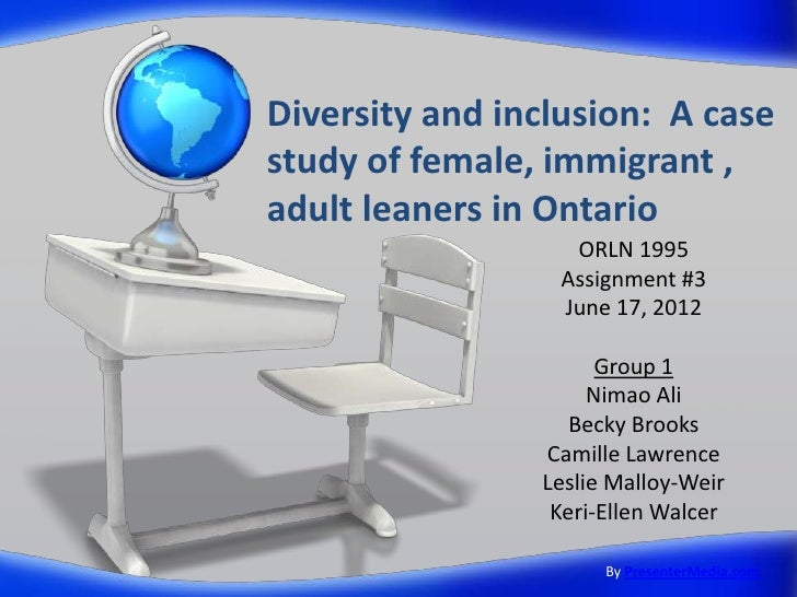 Diversity and inclusion: A casestudy of female, immigrant ,adult leaners in Ontario                  ORLN 1995            ...