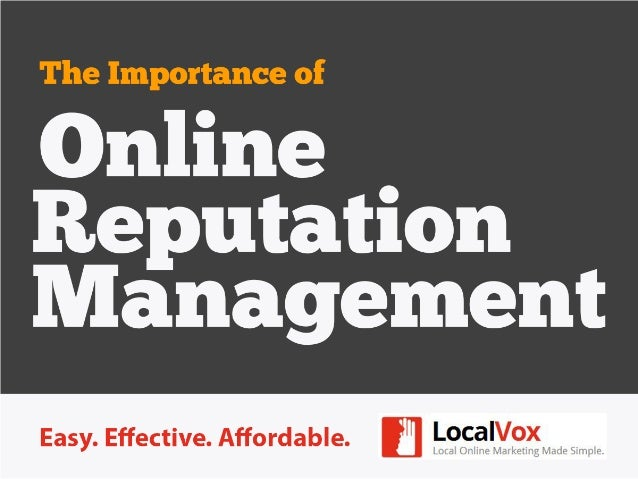 Online Reputation Management Basics for Small Business