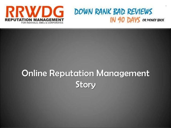 Online Reputation Management            Story