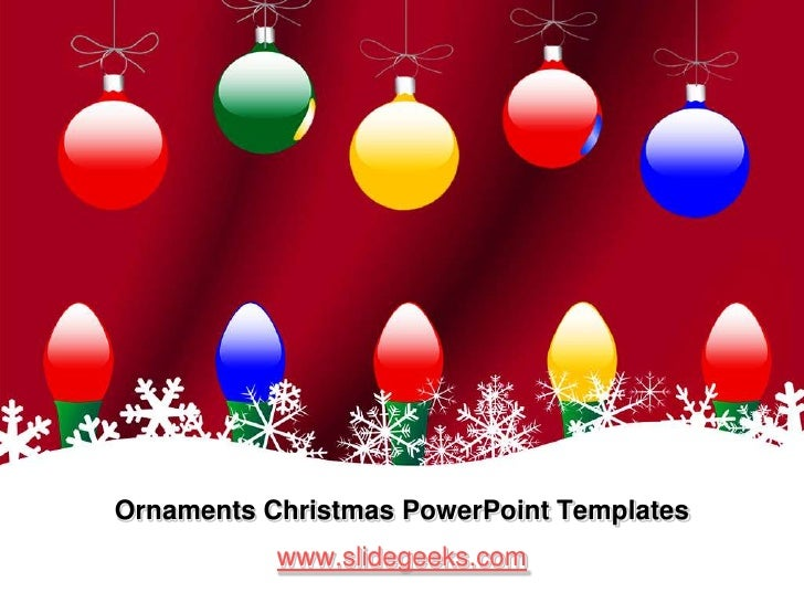 Ornaments christmas power point templates