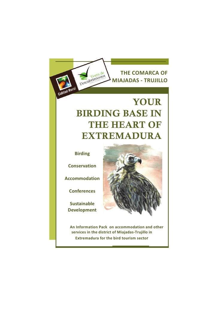 Your birding base in the heart of  Extremadura