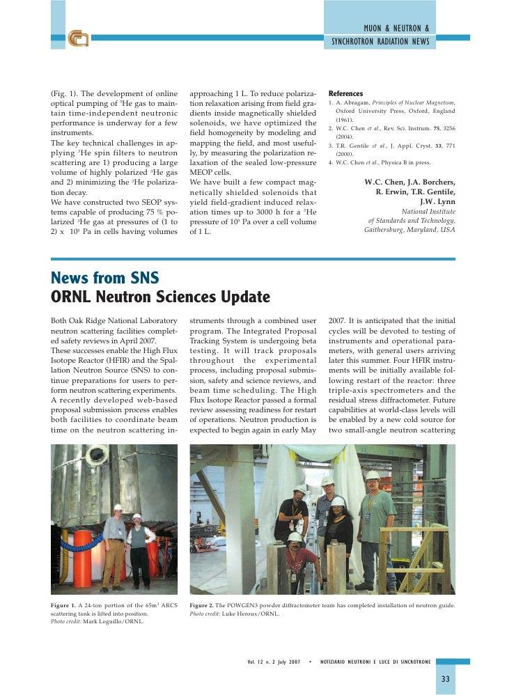 Ornl Neutron Sciences Update