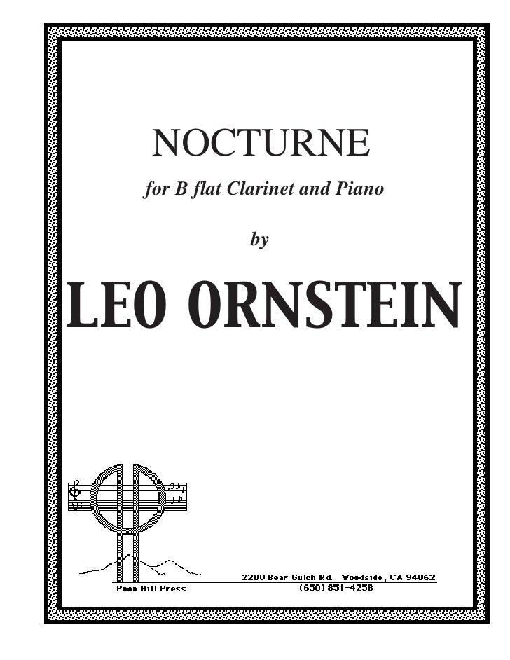 Ornstein   clarinet nocturne