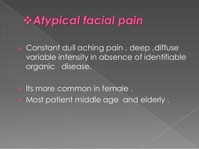 facial pain neurostimulation Atypical