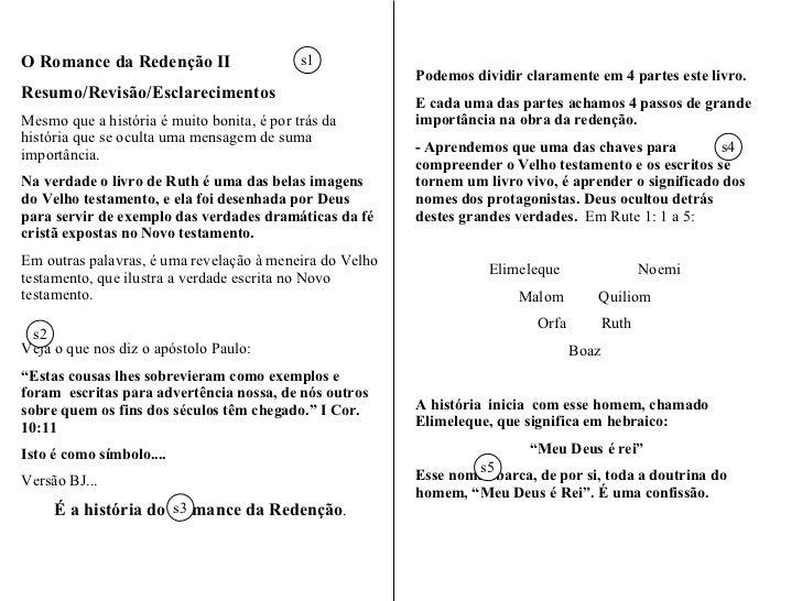 """"""" O Romance da Redenção""""  Parte II A História de RUTE Adaptação Prof. Homerzatt Compacto: O Romance da Redenção - Parte II..."""